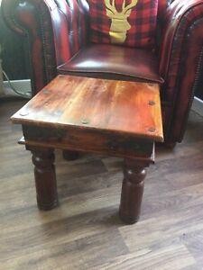 Jali Sheesham Side Table