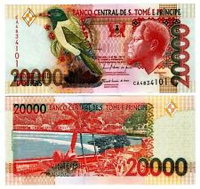 St. Thomas & Prince 20,000 Dobras Uncirculated Note 2010
