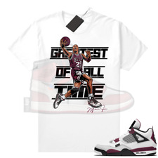 New listing PSG 4s Sneaker Match Tees Greatest of All Time V2, Sneaker Matching Unisex tee