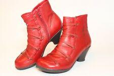 Miz Mooz Womens Size 8 38 Claudia Leather Zip Heeled Ankle Boots S124-E719-46