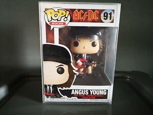 Funko Pop! Angus Young 91 AC/DC Pop! Rocks + Protector