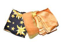 Lot of 3 Vintage Ladys Scarves Scarf Oblong Square Pura Seta Zodiac Vera Tie Dye