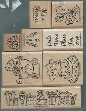 Stampin' Up SOMETHING TO CELEBRATE Mounted Rubber Stamps - Set of 9