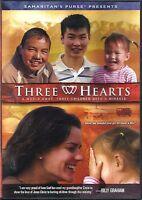 THREE HEARTS (2012, DVD)