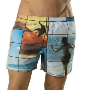 Geronimo Mens Swimming Coloured Swim Shorts Tropical Print Beach Summer Shorts 1