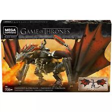 DAENERYS & DRAGON mega construx bloks black series GAME OF THRONES got NEW gkg97