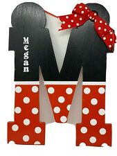 """MEGAN """"M"""" Children's Name Room Sign- Wood 16x11 inches"""