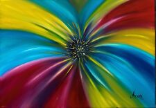 Moderno Floreale painting, colorato floreale painting, arte astratta fiori,
