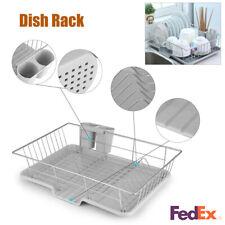 Kitchen Dish Drying Rack Drainer Dryer Tray Cutlery Holder Organizer Strainer