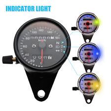 Universal Motorrad LED Licht Tachometer Kilometerzähler Speedometer K/mh 6936