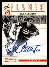 2012-13 Classics Signatures Autographs #123 Bill Clement Flames Auto (ref 6757)