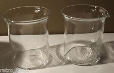 Bodum Bistro Clear Glass Sugar Bowl and Creamer Set MCM Denmark Modern (A)