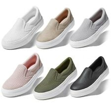 DailyShoes Women Flat Memory Foam Slip On Sneakers Casual Loafers Comfy Shoes