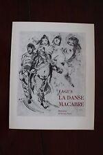 ✒ PROSPECTUS Souscription FAGUS La Danse Macabre 1937 Sylvain VIGNY