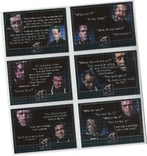 "Prisoner Volume 1 (One) - 6 Card ""Classic Dialogue"" Holofoil Chase Set PHF1-6"