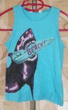 Débardeur bleu avec requin neuf taille 2 ans marque Boys (b)