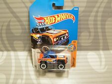 2017 HOT WHEELS ''SURF`S UP'' #140 = CUSTOM FORD BRONCO = ORANGE  int