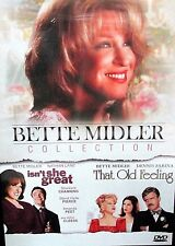 Bette Midler 2 Movie  Collection New! DVD, Isn't She Great, That Old Feeling