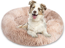 Dog Bed Cat Bed, fluffy Pet Puppy Bed Donut Soft Small Medium Breed Dogs Cats