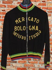 Trikot Fahrrad Trikot Jacke Radsport Eroica Vintage 70'S Bologna 50% Wolle