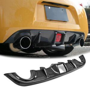 For Nissan 370Z Z34 Carbon Fiber Rear Bumper Diffuser Under Lip Splitter Cover