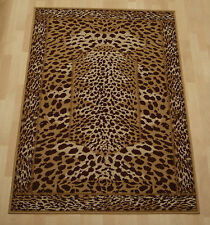 Cheap budget african safari leopard large beige animal living kid room 190x280cm