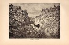 Gorges of Pancorbo c1890 old Antique Print Vintage Picture
