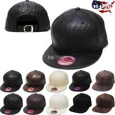 Faux Leather Adjustable Size Baseball Cap Hats for Men  6e6d1df98fe9