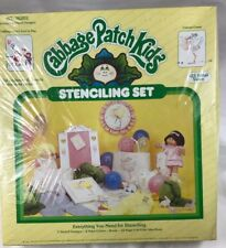 Cabbage Patch Kids Stenciling Set Vintage 1984 New Kids at Play & Colonel Casey