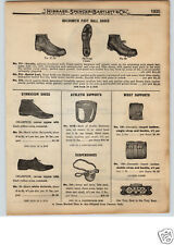1922 PAPER AD Goldsmith Football Shoes Athletic Supporter Army Navy Jock Strap