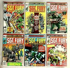 6x Marvel Comics Sgt. Fury and his Howling Commandos US Comics 70er years #A-804