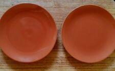 """Set 2 Ikea Burnt Orange Rust 8.25"""" Salad / Dessert Plates #15199 XLNT"""