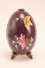 Limoges France Chamart Footed Egg With Perfume Bottle Decor Main Signed