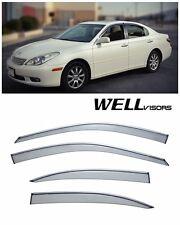 WellVisors Clip On Side Window Visors W/ Chrome Trim For 02-06 Lexus ES300 ES330