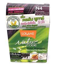 lolane n4light mahoganybrown color shampoo non ammnonia plus corn sugar