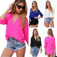 Women's Cotton V Neck Tops & Shirts ,no Multipack