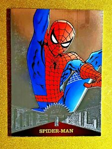 2017 Fleer Ultra Marvel Precious Metal Gems Silver Spider-Man #MM1 Gem Mint