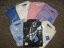 Women's No Pattern Cotton Semi Fitted Business Tops & Shirts