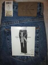 Calvin Klein Slim Fit Boot Leg Womans Juniors Denim Blue Jeans Size 11 x 33 New