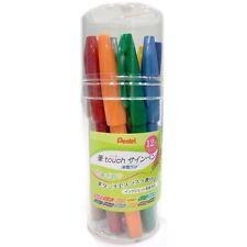 New Pentel Fude Touch Sign Pen Fine 12 Colors Brush Pen Set F/S Japan Import