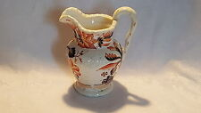 Orange flower design vintage pre Victorian antique Gaudy Welsh jug