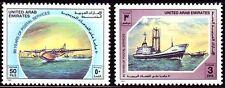UAE 1989 ** Mi.269/70 Postdienst | Flugzeuge Aeroplanes | Schiffe Ships