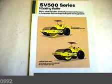 Sakai Sv500 Vibrating Roller Color Brochure