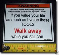 new tool box toolbox warning walk away sticker decal toolbox funny