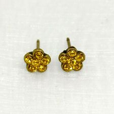 Lovely  Michal Negrin Earrings  Swarovski Crystal Yellow flowers
