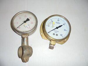 Vintage Pressure Gauges x 2