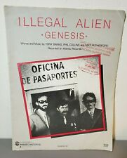 "Genesis ""Illegal Alien"" Sheet Music Piano Vocal Guitar Phil Collins Tony Banks"