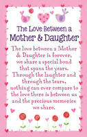 THE LOVE BETWEEN A MOTHER & DAUGHTER HEARTWARMERS Keepsake Wallet Card Gift💕