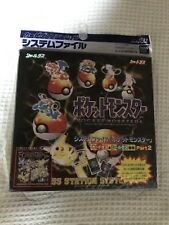 Free Tracking!! Pokemon Japanese carddass system file binder 1996