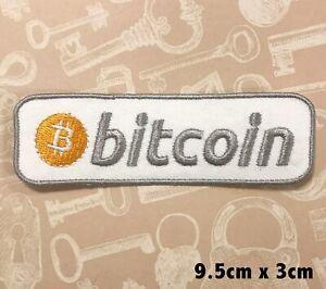 Numérique Crypto-Monaie Neuf Logo à Repasser Patch Brodé - Bitcoin Lettre